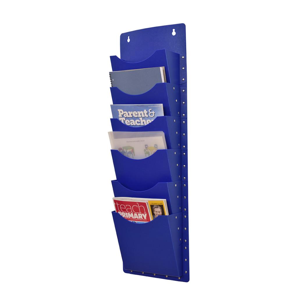 A4 Multi-Filapocket X6 Pockets – Blue