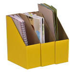 A4 Library Boxes – Yellow
