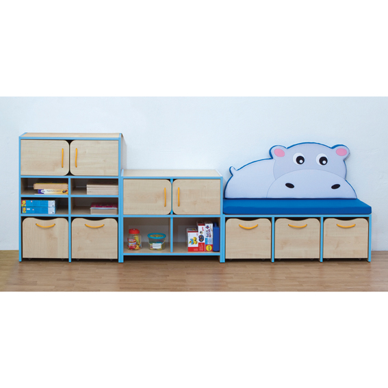 Nature Small Storage/Seating Unit – Blue Edging