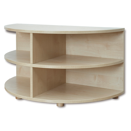 Reading Nook – Rounded End Storage Unit