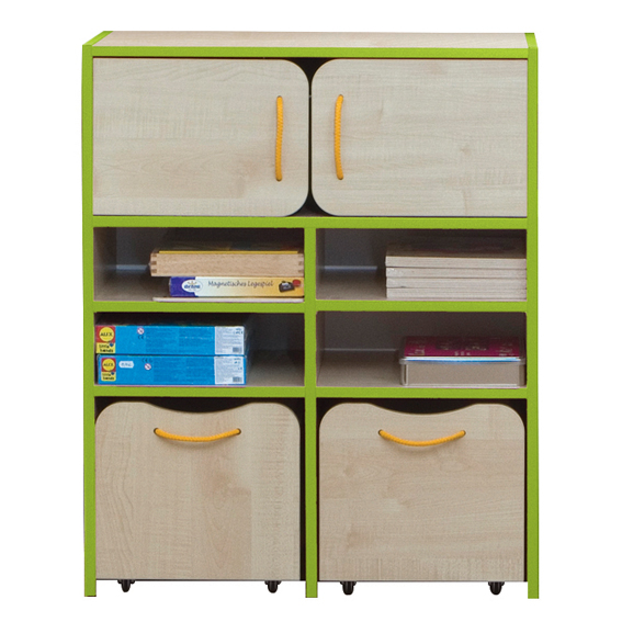 Nature Tall Storage Unit – Green Edging