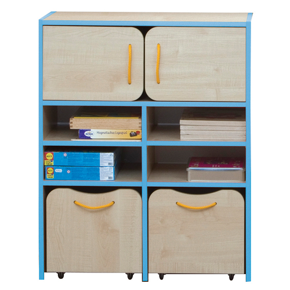 Nature Tall Storage Unit – Blue Edging