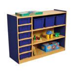 Milan 3 Level Multi Storage Unit Blue – 9 Trays (3 Large & 6 Small)