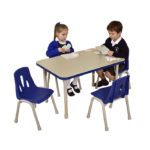 Thrifty Rectangular Table Blue – 4 Seater