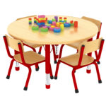 Milan Round Table Red- 4 Seater