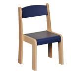 Stackable Chair Blue H260mm