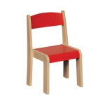 Stackable Chair Red H350mm