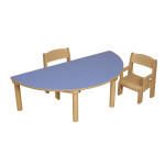 Half Moon Table – Blue