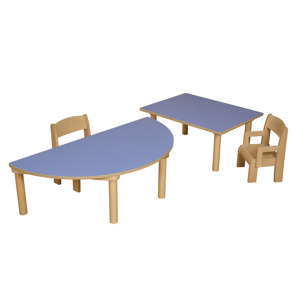 Rectangular Table- Blue