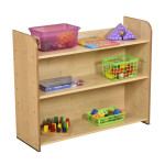Maple Three Shelf Bookcase