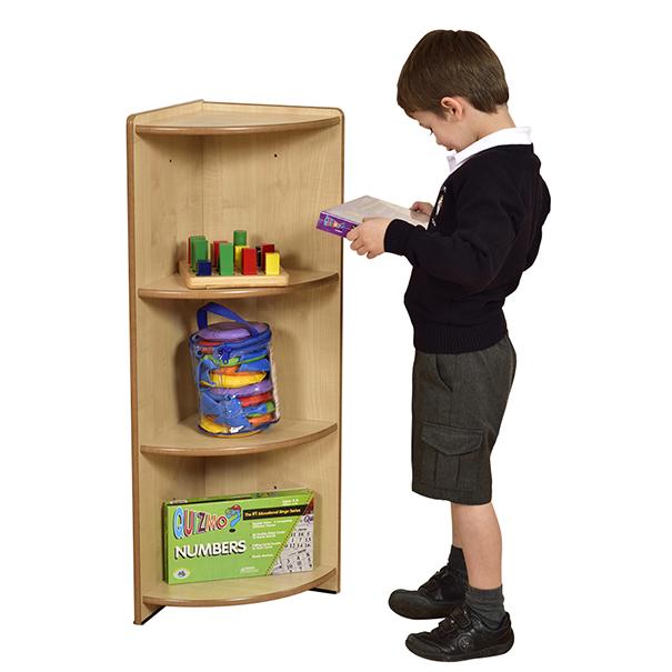 Maple Modular Book Box Corner Unit