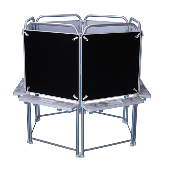 6 Sided Easel Set (with 6 Magnetic Chalkboards)