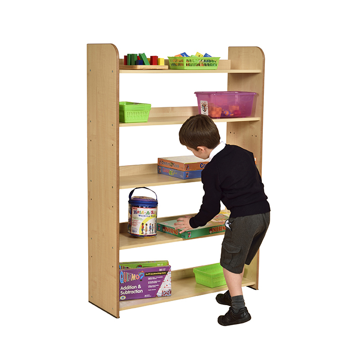 Maple Five Shelf Bookcase