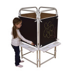 4 Sided Easel Set (with 4 Magnetic Chalkboards)