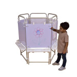 6 Sided Easel Set (with 6 Dry Wipe Boards)