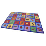 Large Healthy Eating Rug