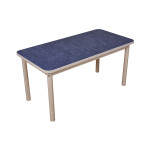 Quiet Adjustable Rectangle Table (1200 x 600mm) – Blue