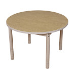 Quiet Adjustable Height Round Table 900mm – Natural