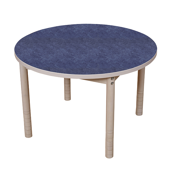 Quiet Adjustable Height Round Table 900mm – Blue