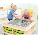 Square Play Rug – City