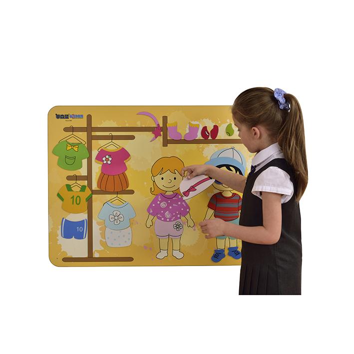 Children's Wallboard – Getting Dressed