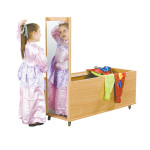Combo Mirror Table & Dress Up Cabinet