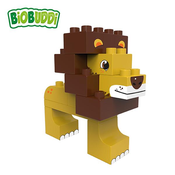 BiOBUDDi Savanna Wildlife Set –  12 Blocks