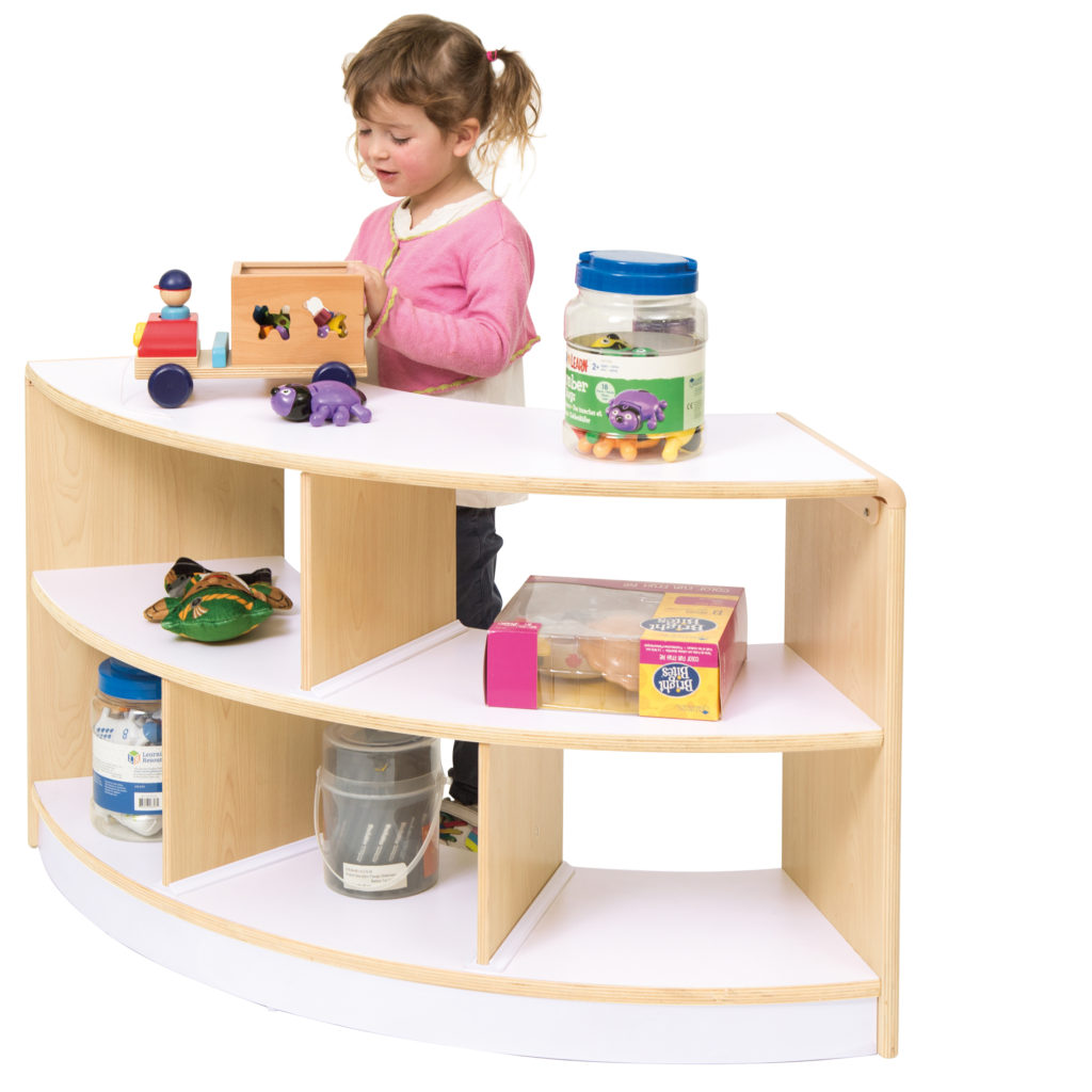 Alps Open Back 2 Shelf Curved Unit