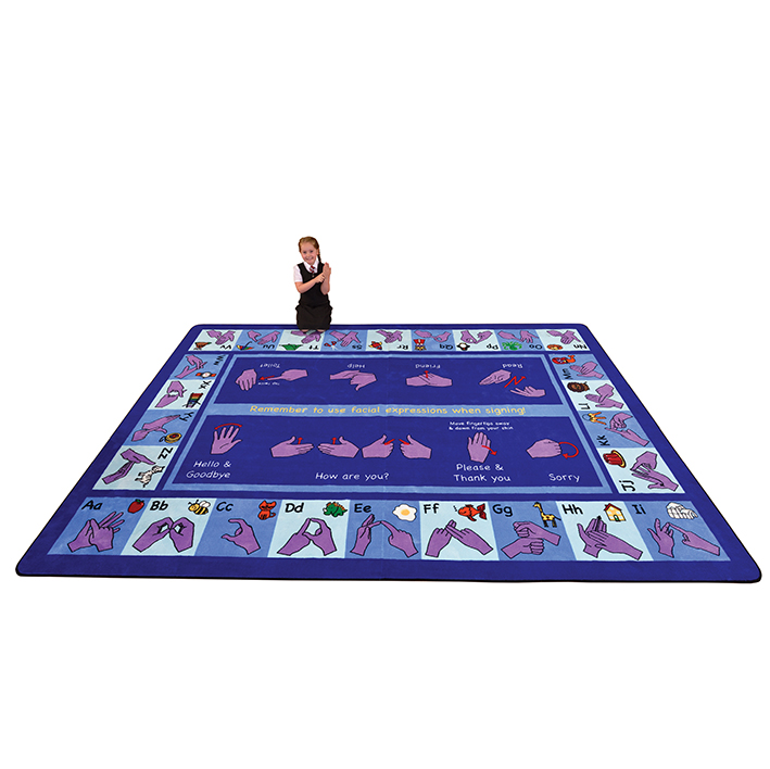 Large Alphabet Sign Language Rug