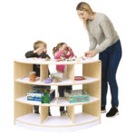 Alps Open Back 3 Shelf Curved Unit