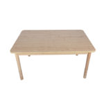 Height Adjustable Rectangle Table – Natural