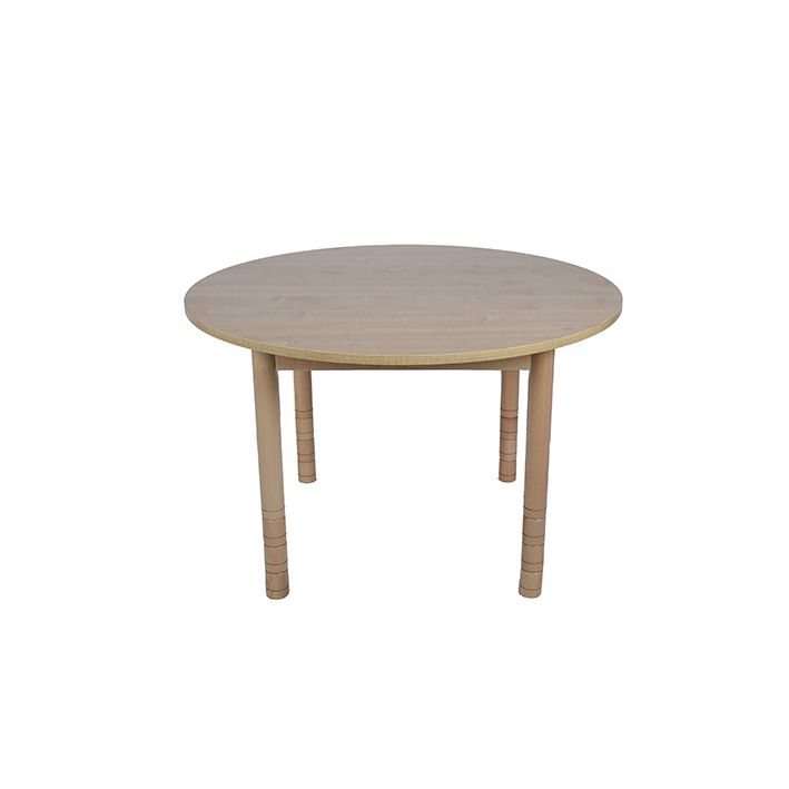 Height Adjustable Round Table – Natural