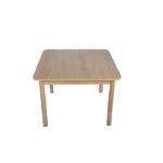 Height Adjustable Square Table – Natural