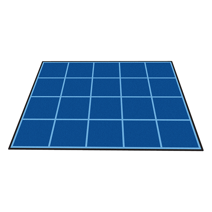 Large Grid Rug with Healthy Eating Squares