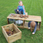 Outdoor Discovery Bench and Crates