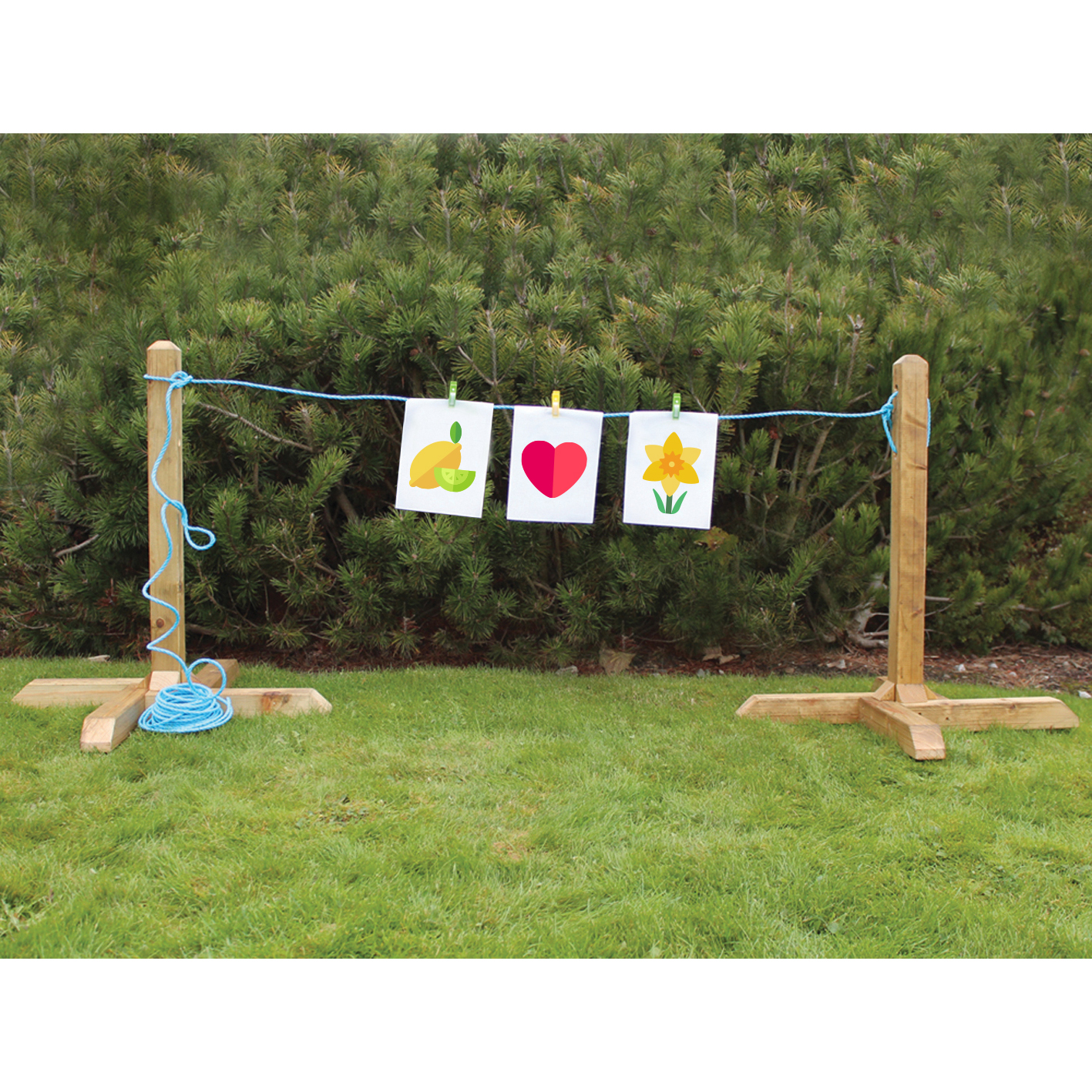 ED667 Outdoor Free Standing Washing Line with February Seasonal Graphics