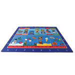 Large Seasonal Routines Alphabet Rug