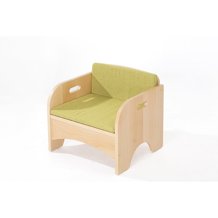 Zona Reading Armchair with Green Cushion Set