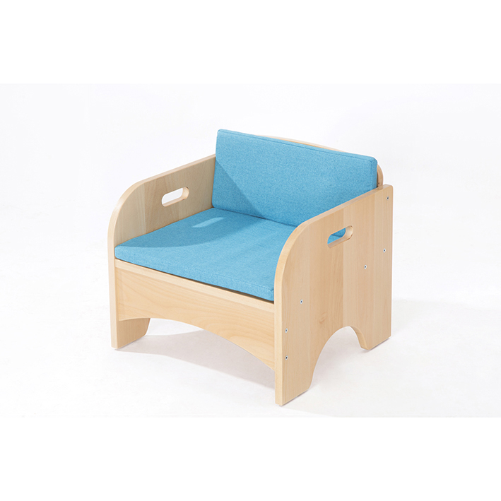 Zona Reading Armchair with Blue Cushion Set
