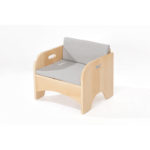 Zona Reading Armchair with Grey Cushion Set