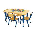 Milan Rectangular Table Blue – 4 Seater