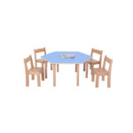 Pastel Blue Hexagon Table H460
