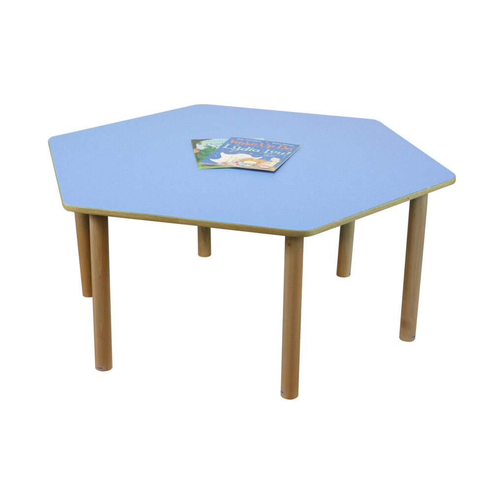 Pastel Blue Hexagon Table H530