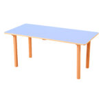 Pastel Blue Rectangle Table H530