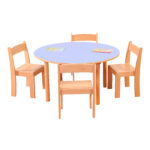 Pastel Blue Round Table H530