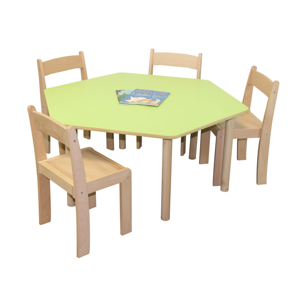 Pastel Green Hexagon Table H530