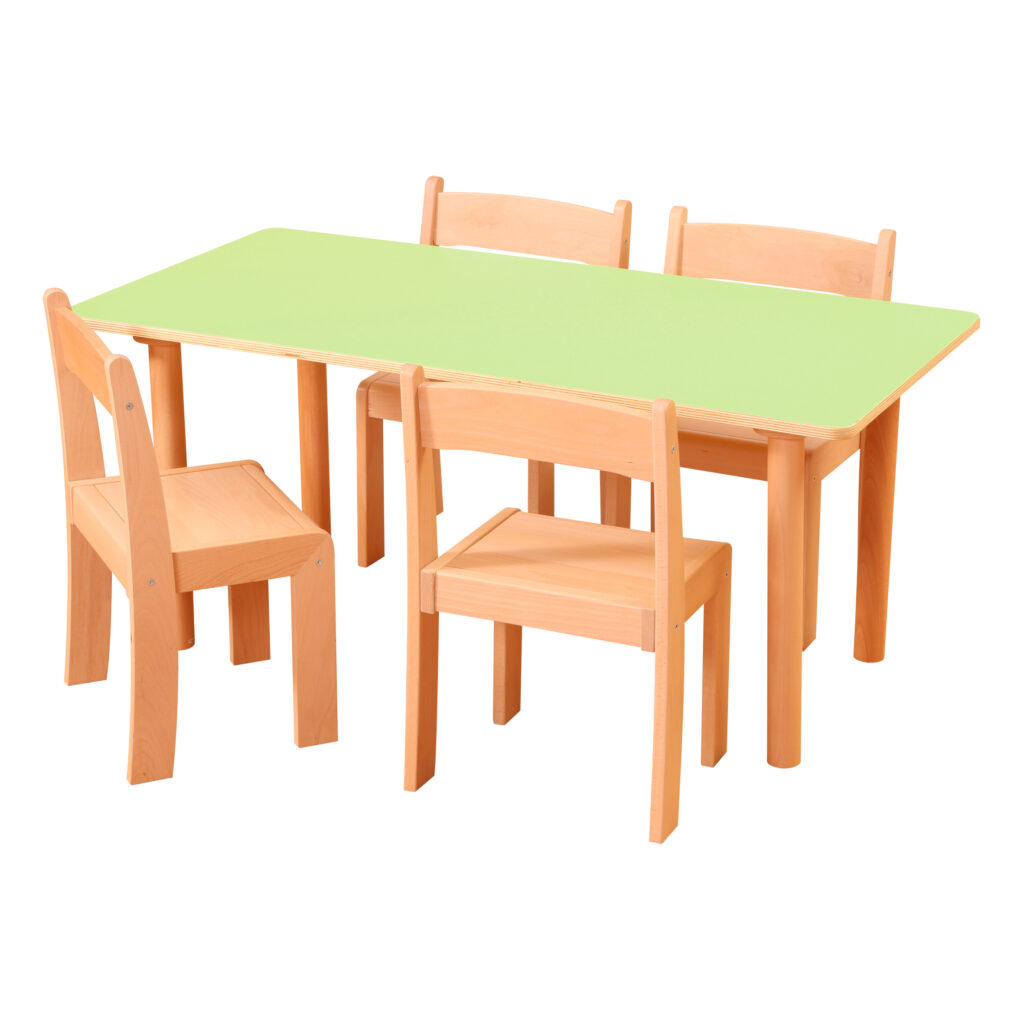 Pastel Green Rectangle Table H460