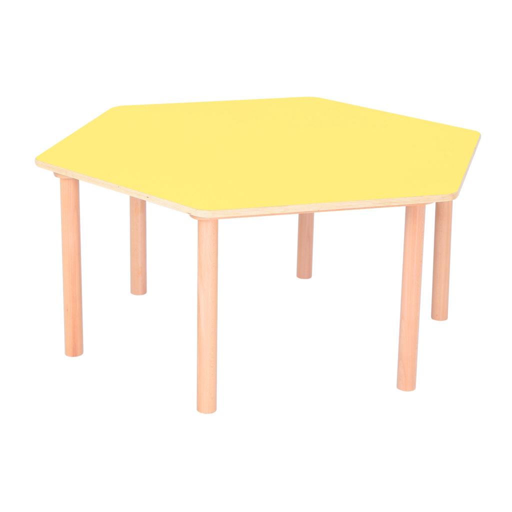 Pastel Yellow Hexagon Table H530
