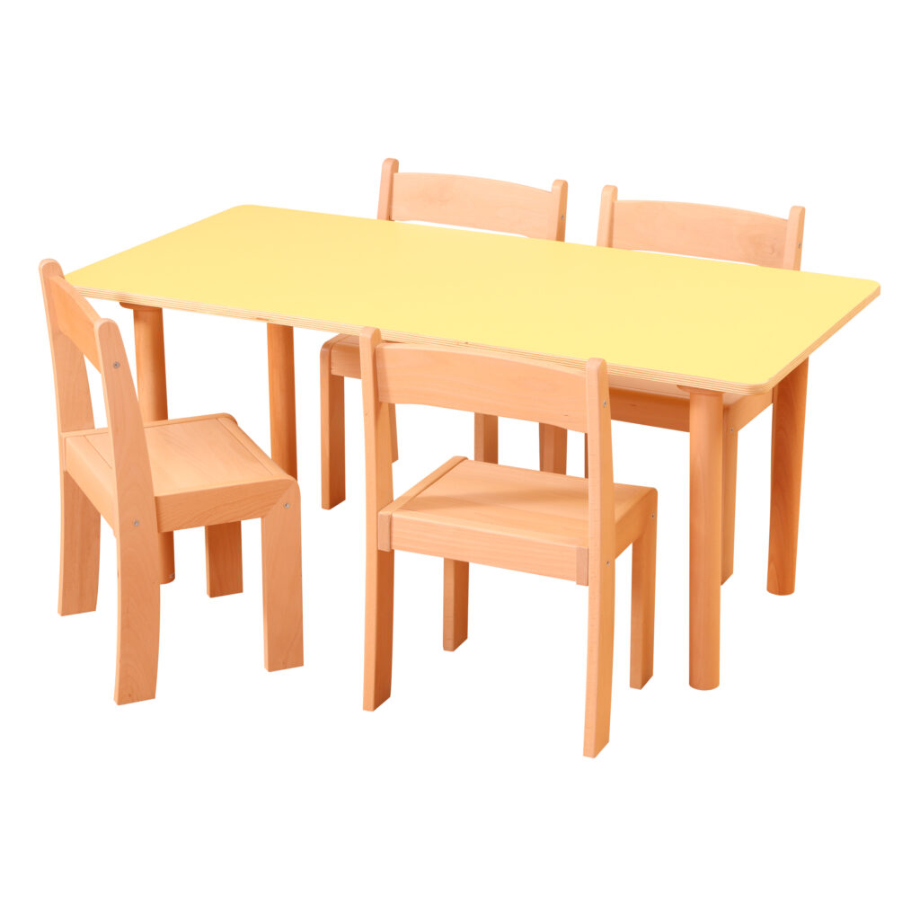 Pastel Yellow Rectangle Table H530
