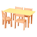 Pastel Yellow Rectangle Table H460